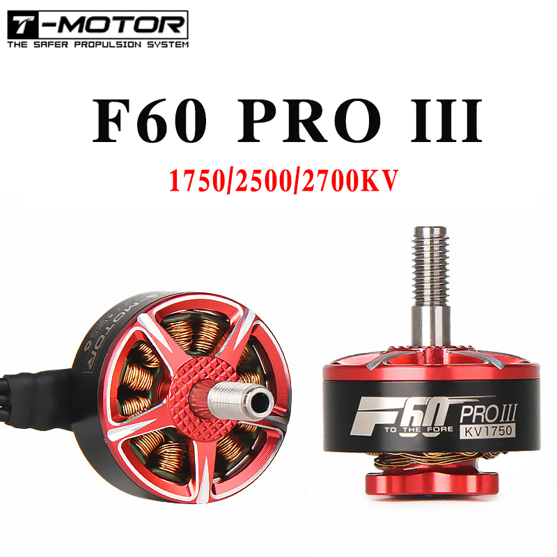 4pcs/lot T-motor F60 PRO III 1750KV/2500KV/2700KV 5-6S CW Thread Brushless Motor For RC Models Drone
