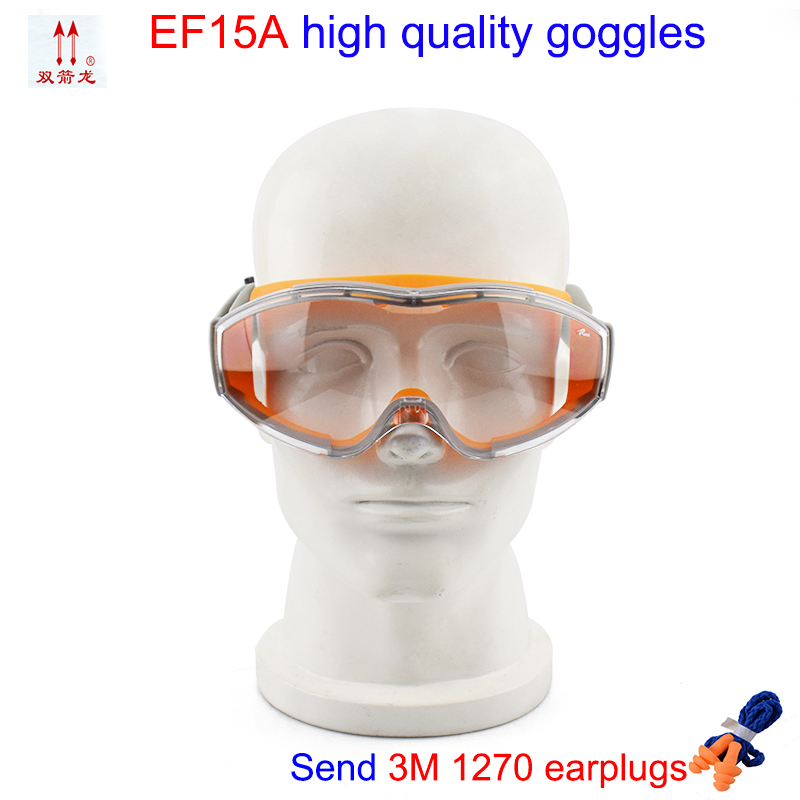 EF15A protective glasses G1 Protection level Orange Frame Transparent safety goggles Ride movement Anti-shock Windproof goggles uvex yellow zengguang noctovision windproof ride goggles protective glasses