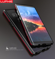 Luxury Ultra Thin Luphie Dual Color Aluminum Frame Bumper For Samsung Galaxy Note 8 Note8 Shockproof
