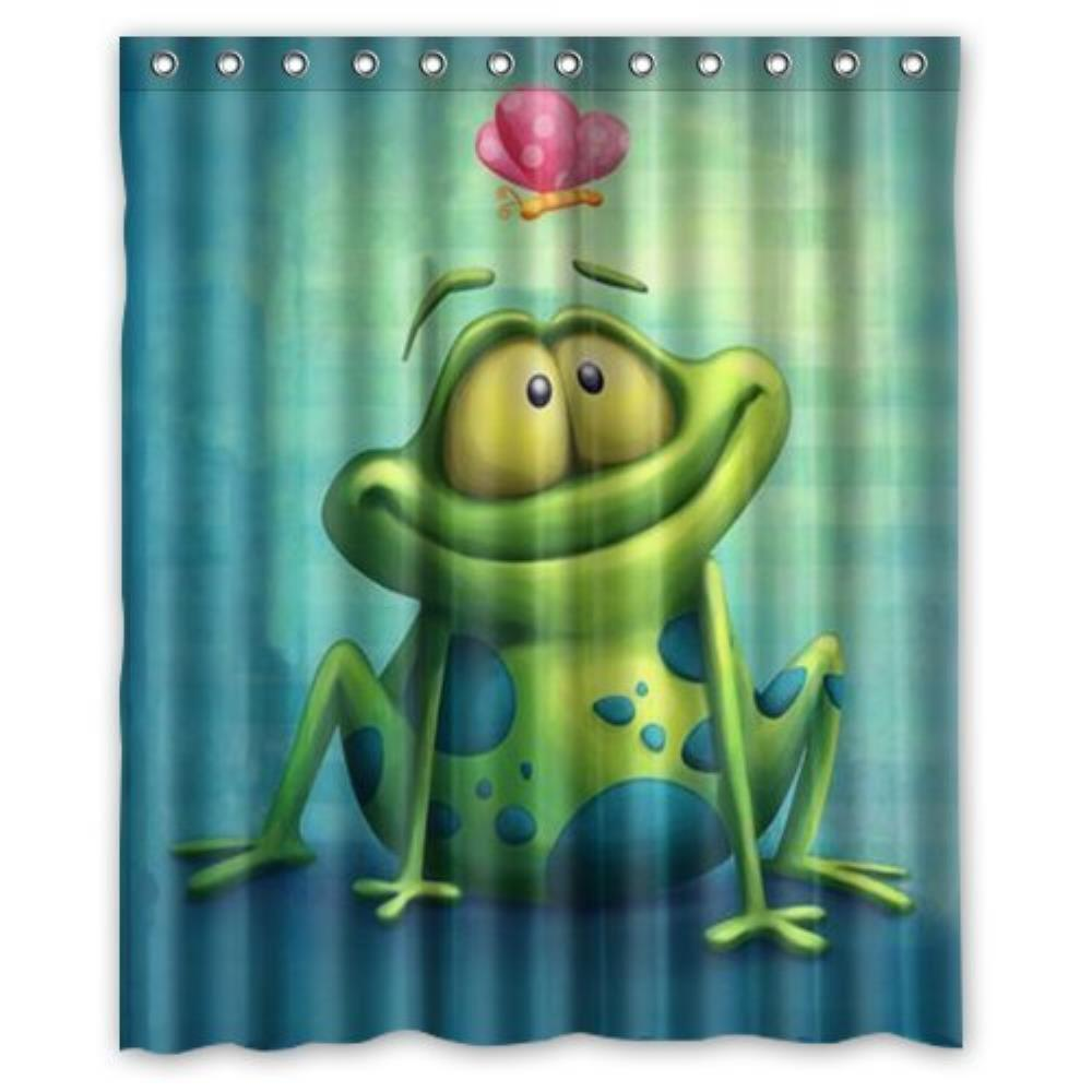 Custom Frog Custom Bathroom Curtain Shower Curtains Woman Shadow Shower  Curtain Waterproof Polyester Fabric(China
