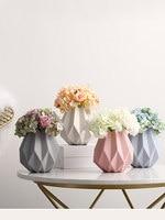 Nordic style origami ceramic vase decoration home decorations dried flower vase creative living room flower flower