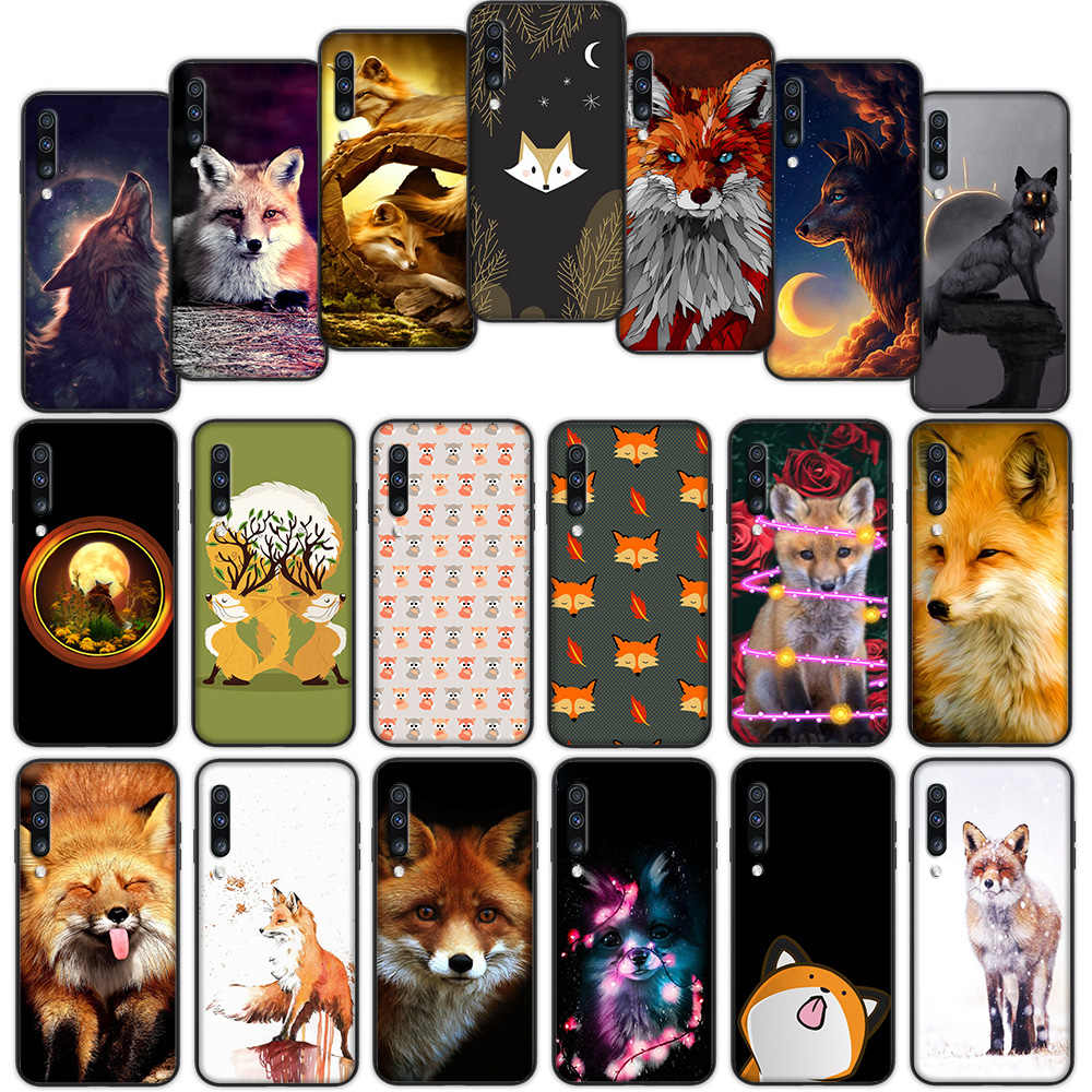 Tema Keyboard Cute Fox Di Hutan Musim Gugur Soft Cover Case untuk Samsung Galaxy A50 A6 Plus A7 A8 2018 A5 A9 A10 a30 A40 A70
