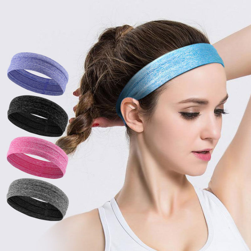 Elastic Sport Headbands For Women Men Solid Breathable Headwrap Brand New Fashion Unisex Sweatbands Spring Summer Type AG29 2018