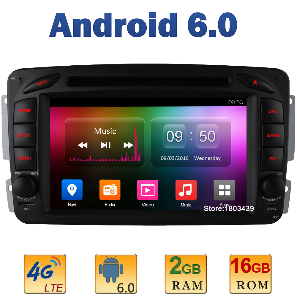 7 Quad Core 2GB RAM 4G LTE WIFI Android 6 Car DVD font b Radio b