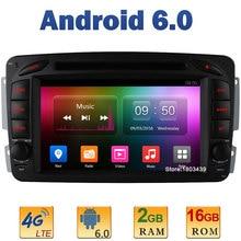 """7 """"Quad Core 2 GB RAM 4G LTE WiFi Android 6 coche DVD Radios para mercedes-benz vaneo Viano Vito c-w203 a-w168 g-w463 clk-c209 w209"""