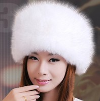 New Fur Hat Real Nature Fox Fur Cap Female Princess Style Beret High Quality Skullies Beanies Winter Caps For Women Hat CP026