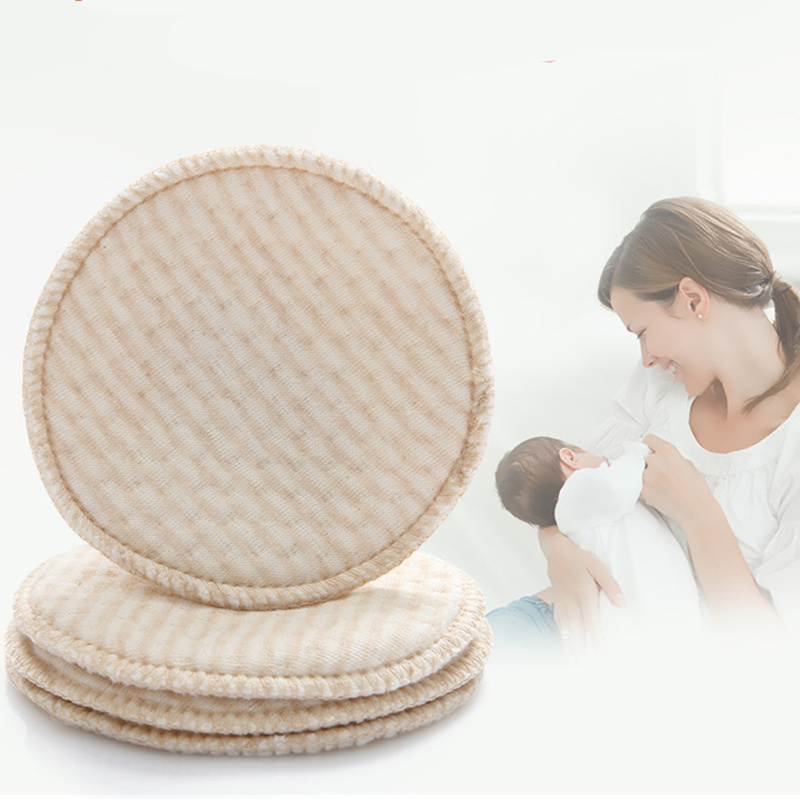 4pcs/bag Nursing Pad Galactorrhea Natural Organic Cotton Washable Breast Pads Spill Prevention Breast Pad For Mum Breast Feeding