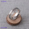 Free shipping Fashion steel ring band silver ring comfort fit