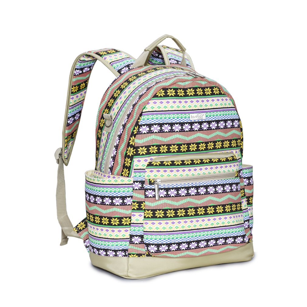 INSULAR Mother Bag 5 Colors Multifunctional Large Capacity Expectant Bohemia Backpack With Double Shoulder Belts Portable