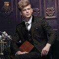 Бесплатная Доставка мужская 2016New осень мужской деловой костюм встреча мужская деловой костюм мужчины работают тонкий полоса костюм 14021 продажа