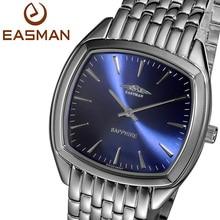 Easman марка часы мужчин серебро кварца бизнес класс швейцария стали циферблат мужские часы наручные часы