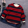 kids boys striped velvet winter blouse tops teens shirts for toddler boy infant baby outerwear thicken children's tops t-shirts