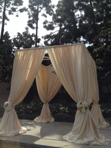 10u0027*10u0027*10u0027 light ch&agne ( square canopy drape + stainless steel Pipe)wedding stage decoration wedding curtain-in Party Backdrops from Home u0026 Garden on ... & 10u0027*10u0027*10u0027 light champagne ( square canopy drape + stainless steel ...