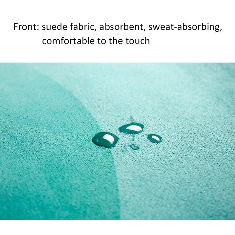 Portable  Yoga Mat Printing Ultra-thin Folding Non-slip Cloth Sweat-absorbent Towel Travel  Pilates  Pad 11