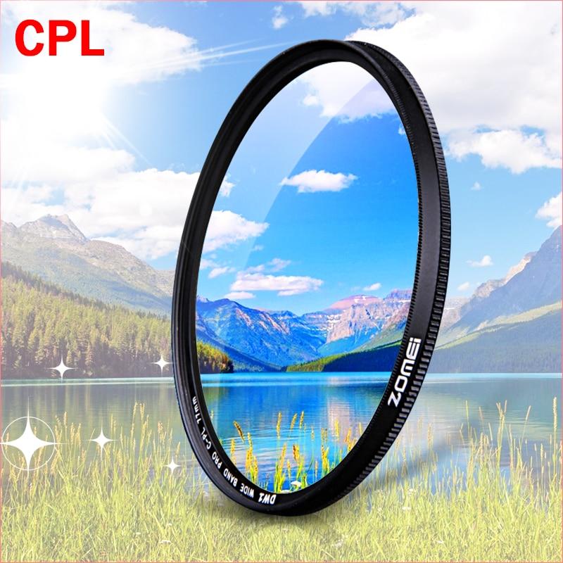 ZOMEI CPL Circular Polarizador filtro de la Cámara para Canon Nikon DSLR CAMERA lens 52mm/55/58/62/67/72/77/82mm