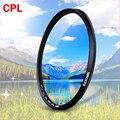 Zomei CPL круговой поляризатор Камера фильтр для Canon цифровых зеркальных фотокамер Nikon Камера линзы 52 мм/55/58/62 /67/72/77/82 мм