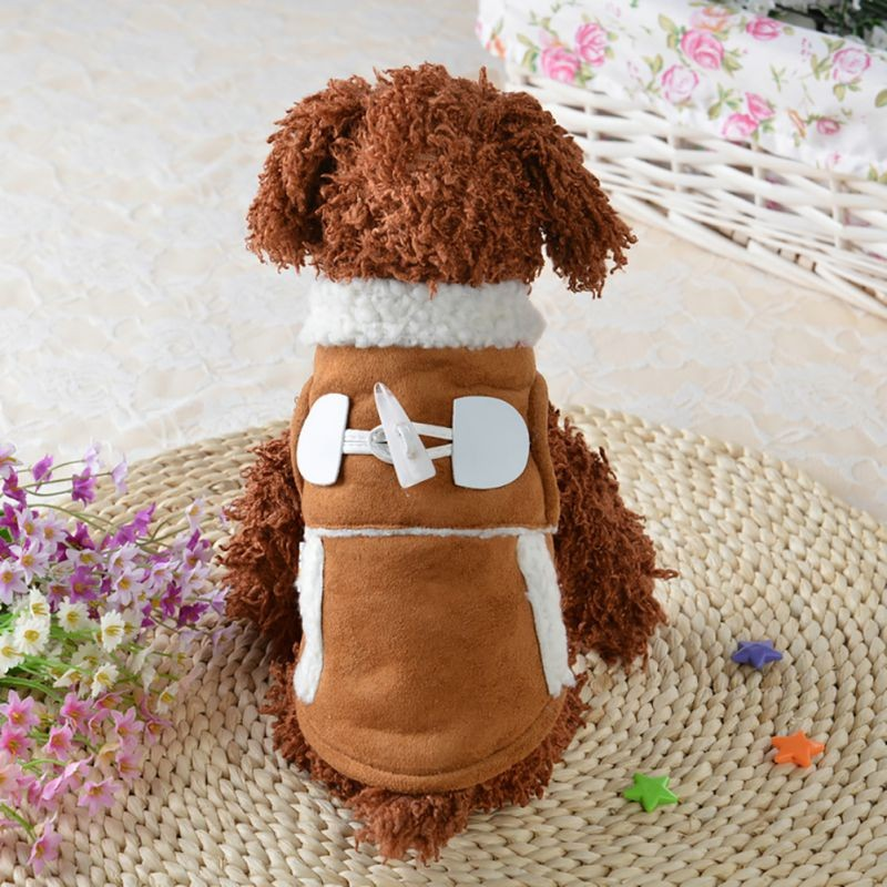 Small Pet Dog Jacket Winter Clothes Coat Apparel Puppy Warm Motorcycle Vest Soft Pet Dog Accessories