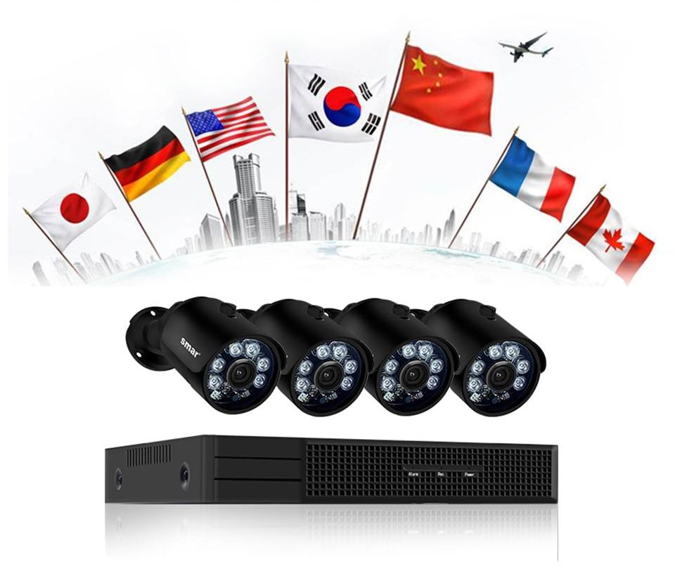 home camera system Smar H.265 4MP Surveillance CCTV System 4CH POE NVR Kit 4MP Bullet PoE IP Camera Waterproof Outdoor Video Surveillance Kit (24)
