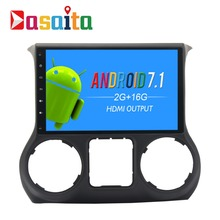 10 2 Android Car GPS DVD For Jeep Wrangler Stereo Radio With 4g LTE 2011 2015