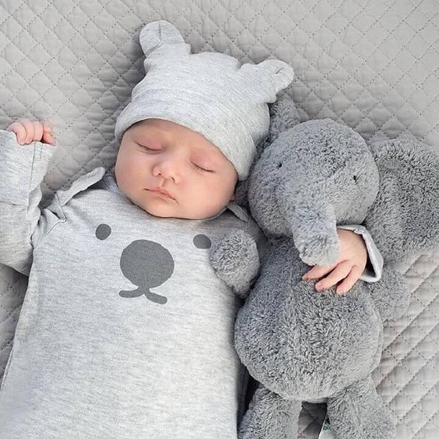 40 CM Bebê Elefante Apaziguar Boneca de Pelúcia Elefante De Pelúcia Travesseiro Crianças Brinquedo Para Crianças Decoração do Quarto Da Cama Bebês Brinquedos de Pelúcia presente