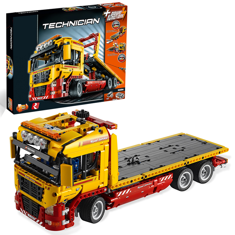 Lepin 20021 Flatbed Truck building bricks Toys for children Game Model Car Gift Compatible with Decool Bela 8109 lepin 02005 volcano exploration base building bricks toys for children game model car gift compatible with decool 60124