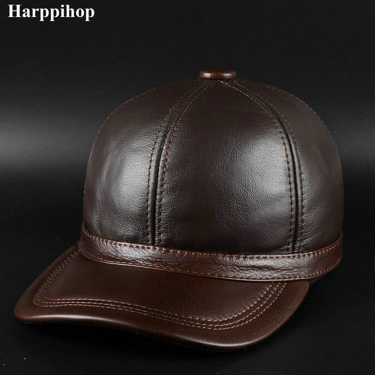 harppihop fur Autumn and winter the new product is recommended for men's leather cap fur cap Wool Hat Wool Cap цена и фото