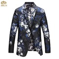MIUK Large Size Mens Floral Blazer Brand-clothing 5XL 4XL Flower Printing Fashion Costume Homme Slim Fit Blazer Masculino 2017