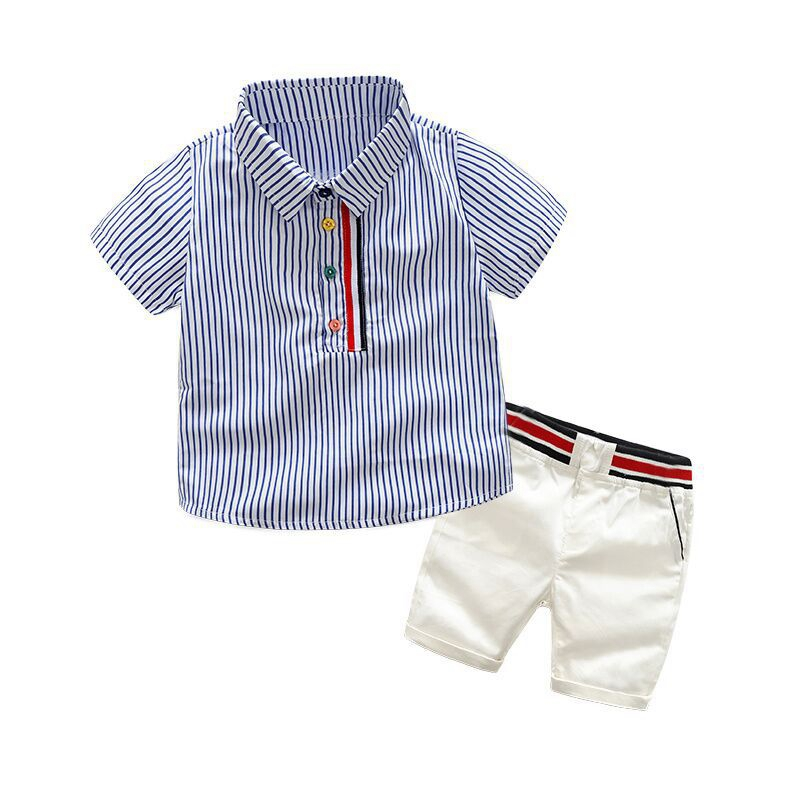 Baby Boys Gentleman clothes Sets T-shirt /& short pants kids party birthday Suits