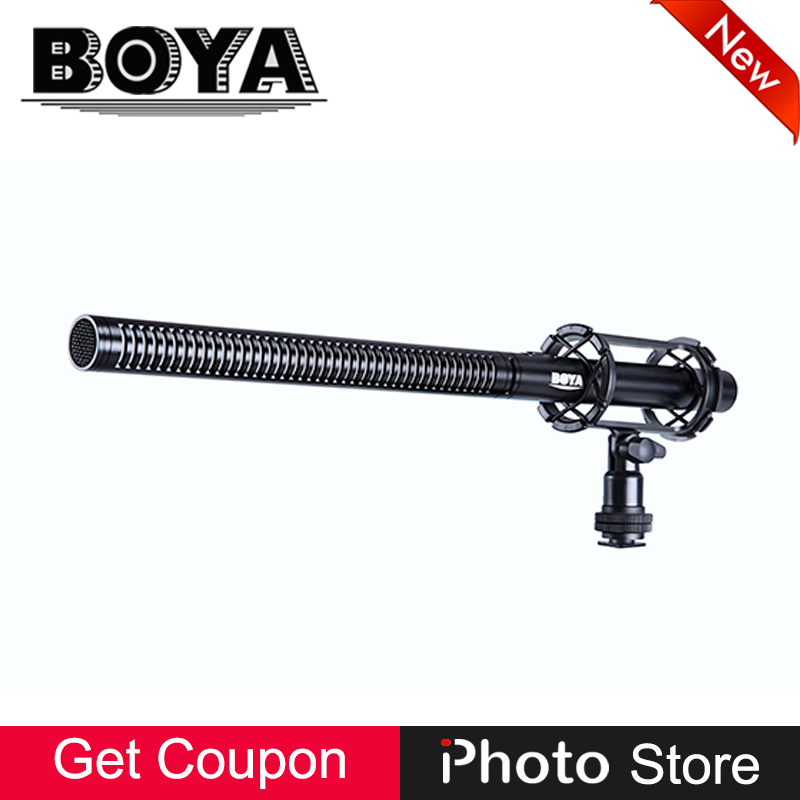 BOYA BY-PVM1000L 38cm Broadcast-Quality Professional Shotgun Condenser Microphone for video DSLR Camera Camcorder Film ENG Audio