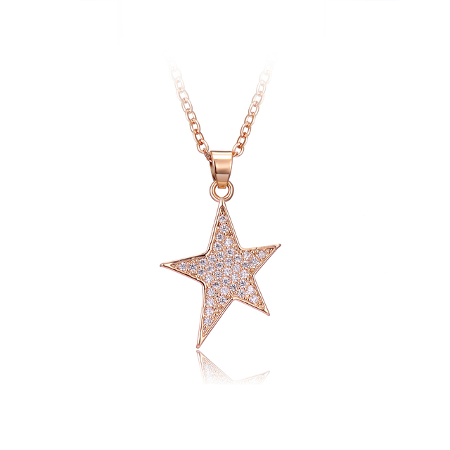 Drole 2017 new arrival rose gold silver star shaped pendant necklace drole 2017 new arrival rose gold silver star shaped pendant necklace for women zircon choker valentines mozeypictures Choice Image