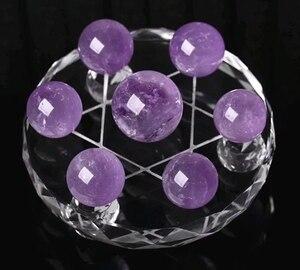 Новые поступления 100% натуральный фиолетовый шар сетка семь розовый кристалл кварца шар исцеляющий кристалл