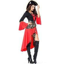 Piratas del Caribe capitán Jack Sparrow pirata adulto Cosplay vestido  carnaval Halloween Cosplay traje de las cfc6672104d