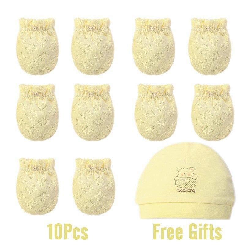 Зима осень хлопок детские перчатки неонатальные перчатки удобные дышащие детские перчатки новорожденная детская рукавица - Цвет: 5 Pairs 2
