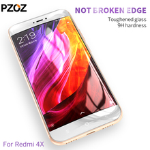 Pzoz xiaomi redmi 4x glass tempered cover prime screen protector 9h 2.5D redmi 4x glass Clear phone xiomi redmi4x film mi 4x 5.0