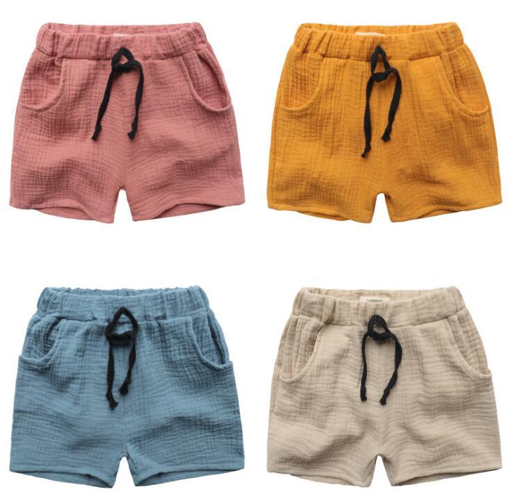 TTN 2017 summer boy shorts high quality boys shorts elastic band pure color neutral shorts loose