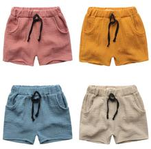 TTN 2017 summer time boy shorts top quality boys shorts elastic band pure shade impartial shorts free breathable kids's clothes