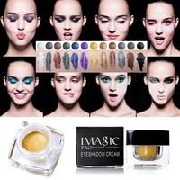 12 Colors Waterproof Long Lasting Glitter Eyeshadow Cream Mulfunctional Shimmer Eyeshadow Eyeline Blush Highlight Make Up