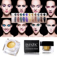 12 Colors Waterproof Long Lasting Glitter Eyeshadow Cream Mulfunctional Shimmer Eyeshadow Eyeline Blush Highlight Make Up