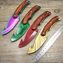 Dropship 5Cr15MoV steel  CS GO Gut Knifes Counter Strike Tactical Fixed Blade Hunting Knives Straight Camping knife with opener