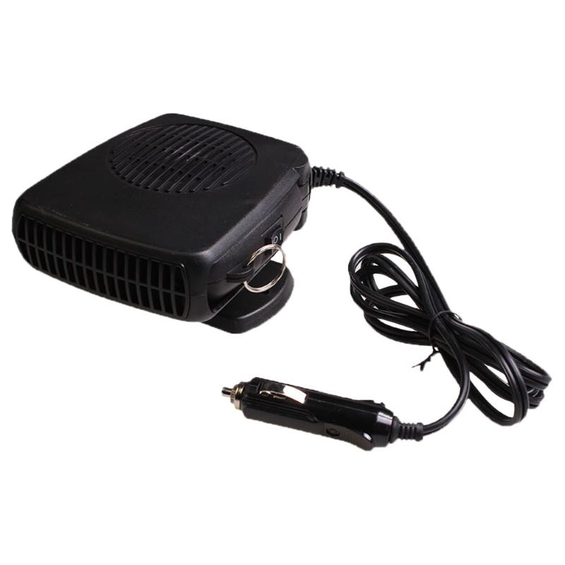 Car Heater 12 Volt Electric Travel Vehicle Fan Handle Windshield Window Glass Defroster Demister Cigarette Lighter Plug
