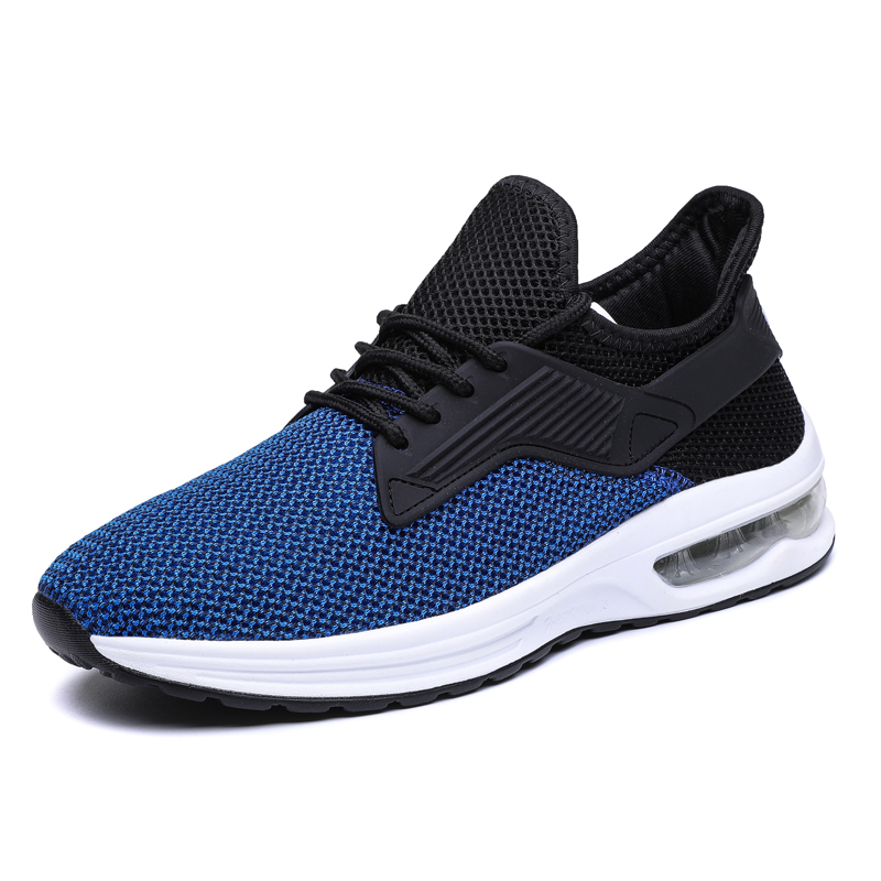 Air Cushion Men's Shoes 2018 New Hot Sale Running Shoes Outdoor Warlking Jogging Shoes Breathable Mesh Lace-up Sneakers Trainers