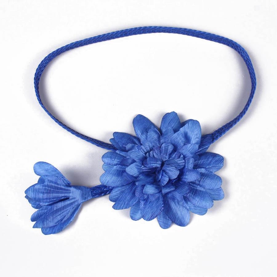 Prepare The Waist Line Fashion Big Flower Adornment Female Waist Belt Joker Blue Dress Of Nepotism V057