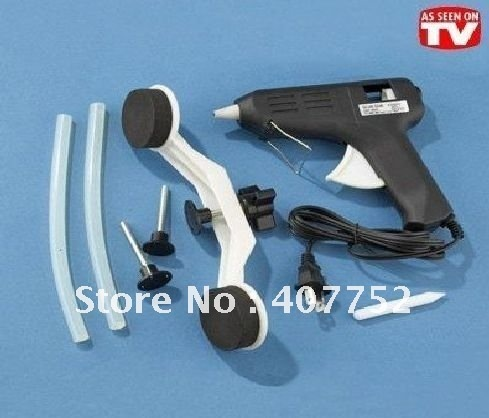 free shipping MOQ 1 SET AS Seen On TV Pops A Dent Auto Body Dent Repair,car Removal Tools , color box pack,110v or 220v
