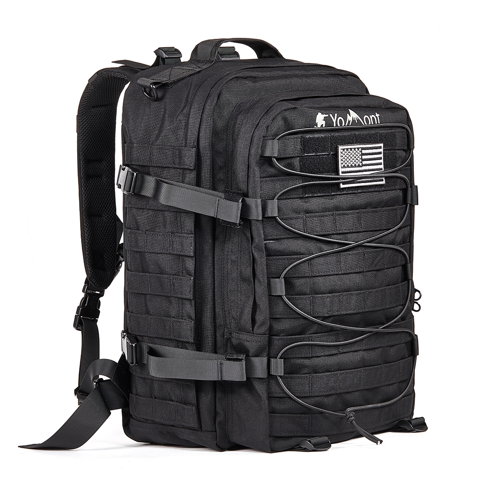 YoMont 37L1050D Military Tactical Backpack 3 Day Army Molle Assault Waterproof Rucksack Pack for Hiking,Camping,Hunting,Fishing