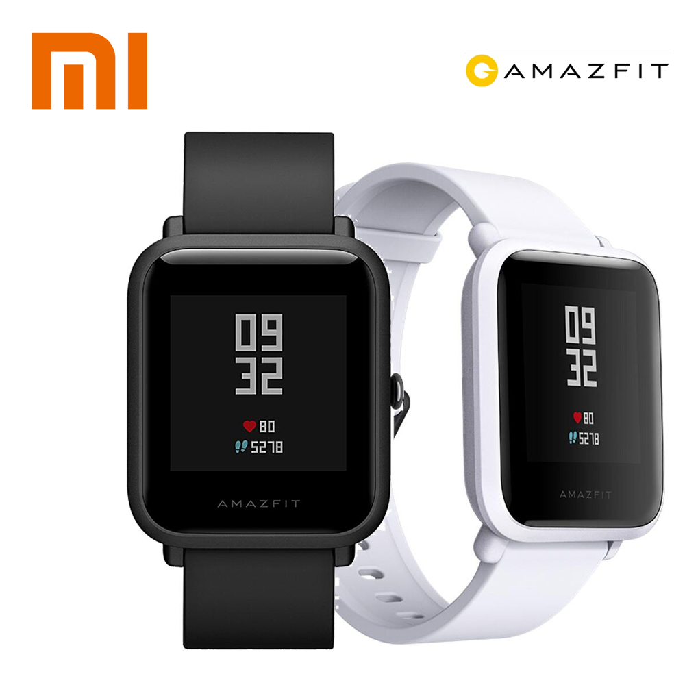 $65-$6 XIAOMI Huami Amazfit Bip WiFi Smart Watch GPS Gloness Smartwatch IP68 Heart Rate Monitor Smart Watchs for Android ios
