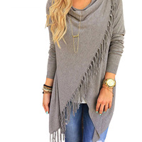 2016 Hot Explosion Models Europe And America Women Casual Cotton In The Long Section Classic Tassel