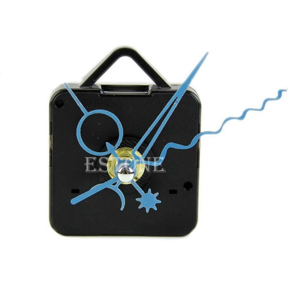 Бесплатная доставка синие стрелки DIY кварцевые черные настенные часы механизм вращения шпинделя запасные части