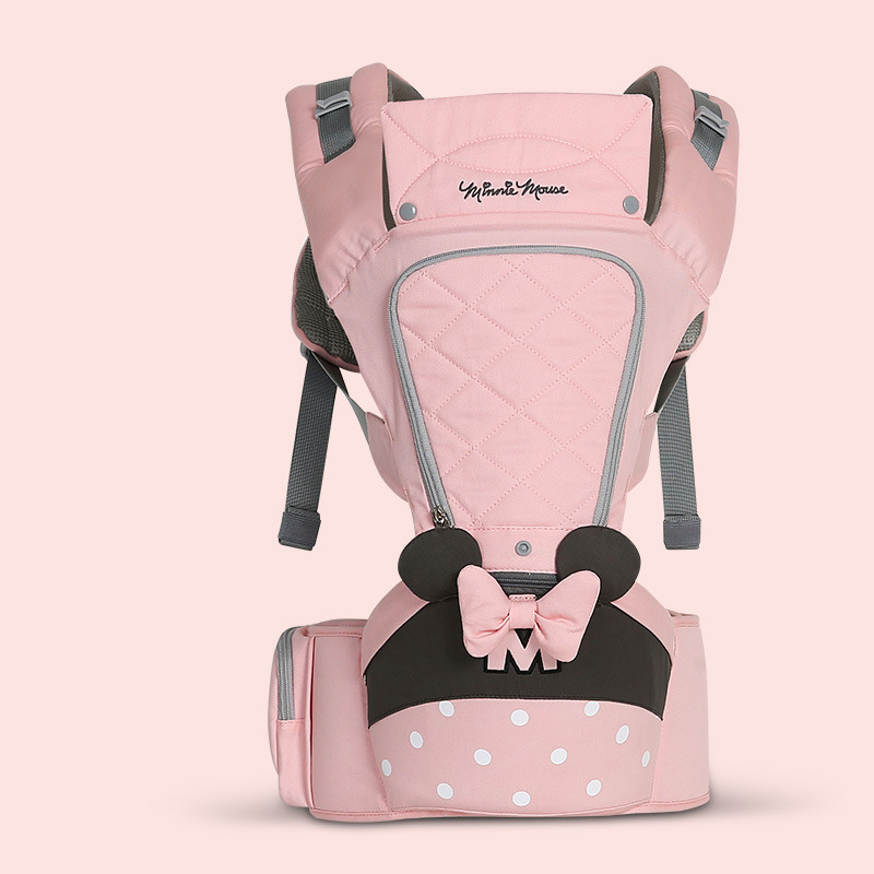 Disney 0-36 Months Bow Breathable Front Facing Baby Carrier Hipseat 20kg Infant Comfortable Sling Backpack Pouch Wrap Carriers