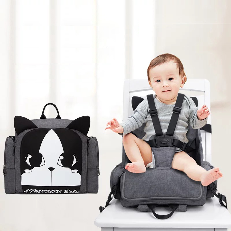 2019 New 2 in 1 Multi-function Mommy Bags Can Be Used As Dining Chair Diaper Bags Backpack Nappy Bags Oxford Waterproof Fabric 2019 New 2 in 1 Multi-function Mommy Bags Can Be Used As Dining Chair Diaper Bags Backpack Nappy Bags Oxford Waterproof Fabric