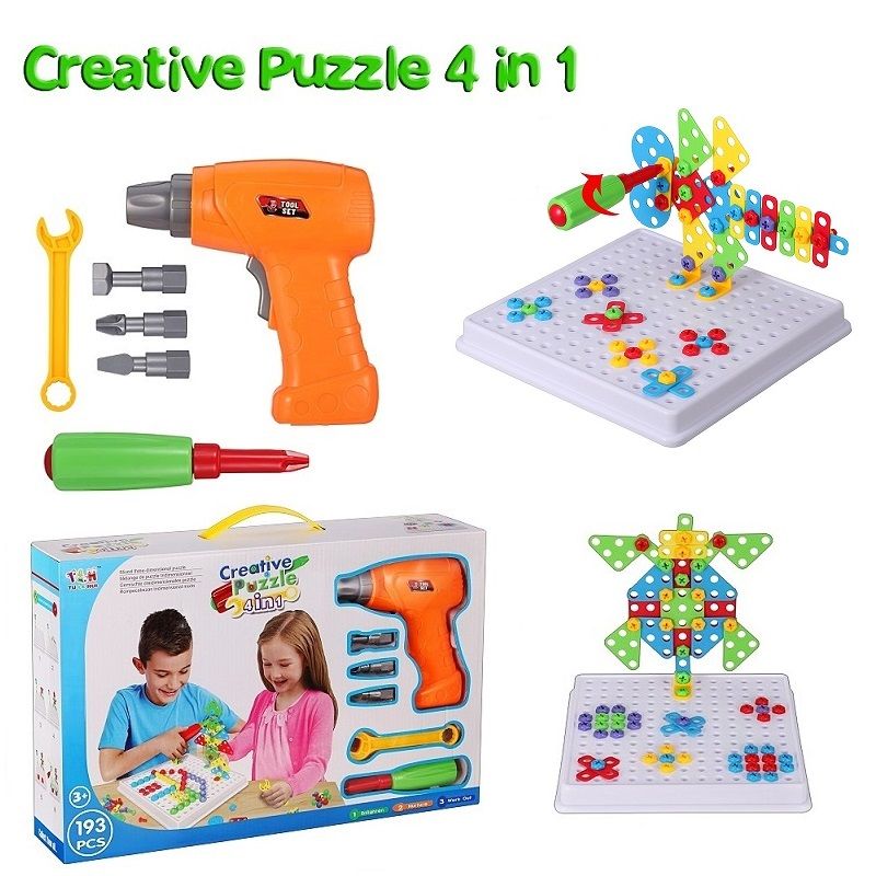 Drill Screw Group Toys Kit Nut Disassembly Competition Match Puzzle Toys Children STEM Education Assembling Building Blocks Toys